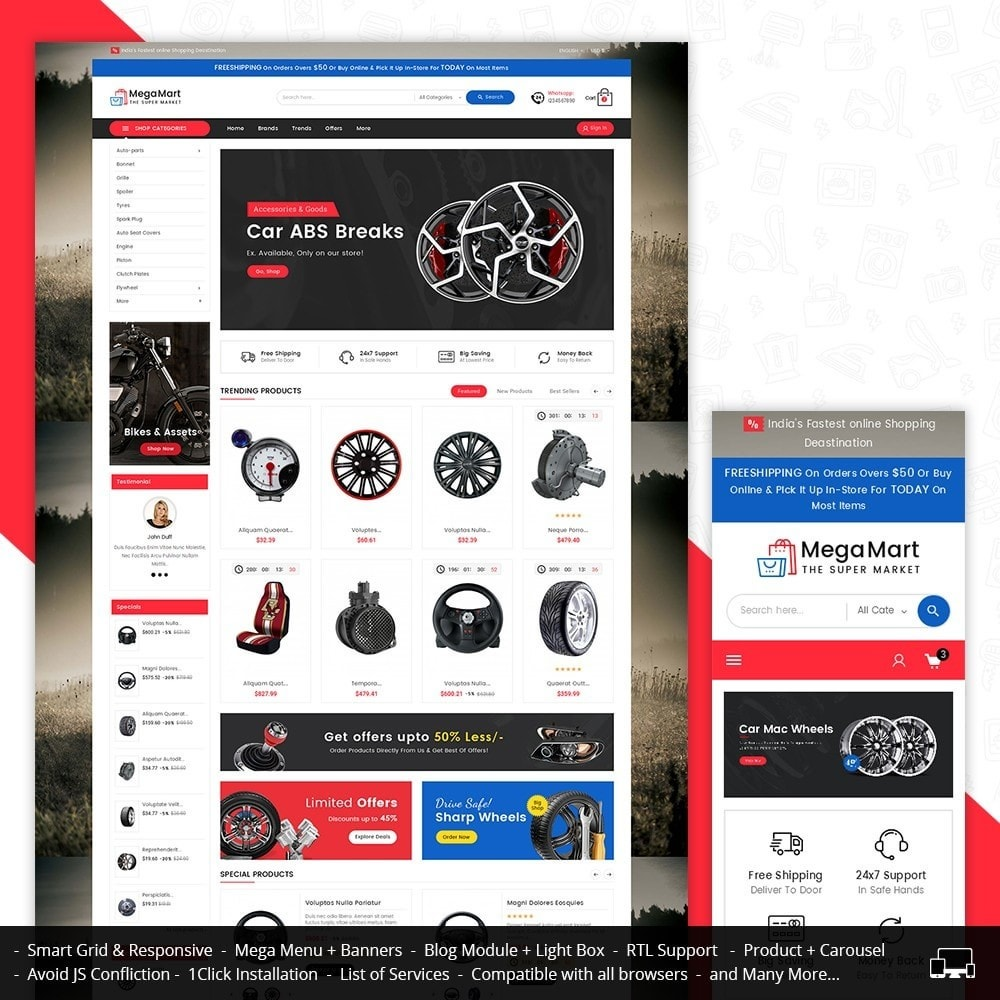 theme - Auto & Moto - Mega Mart Auto Parts - 2