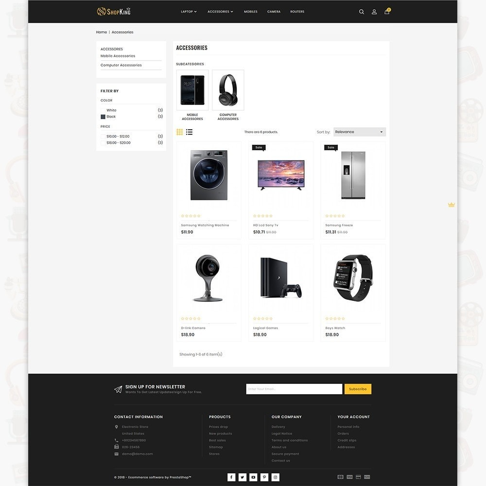 theme - Eletrônicos & High Tech - ShopKing - The Large Ecommerce Store - 3