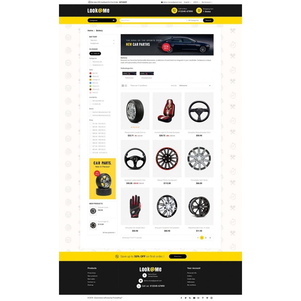 theme - Coches y Motos - Look me Auto Parts - 4