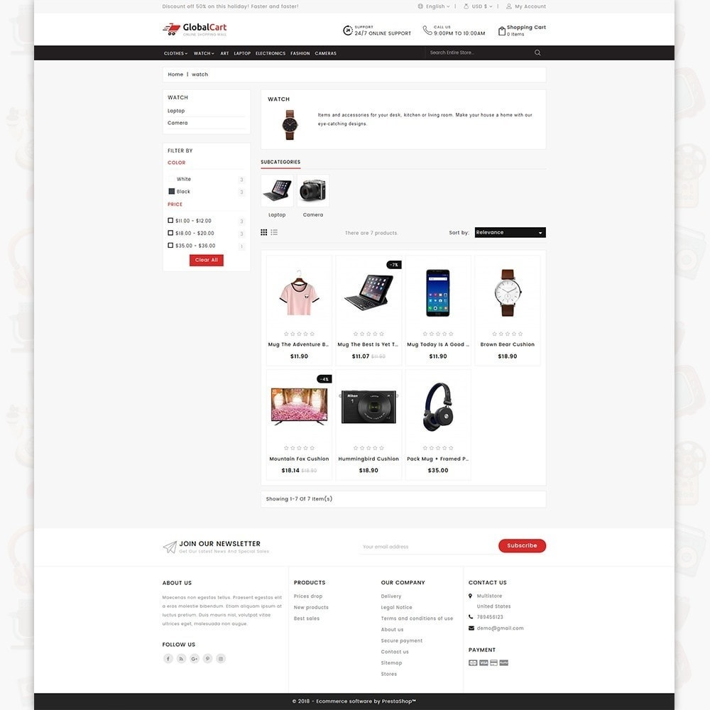 theme - Elektronica & High Tech - GlobalCart - Online Shopping Mall - 3