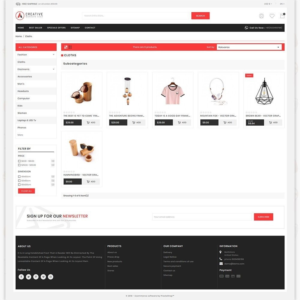 theme - Mode & Schuhe - Creative - The Modern Shop - 3