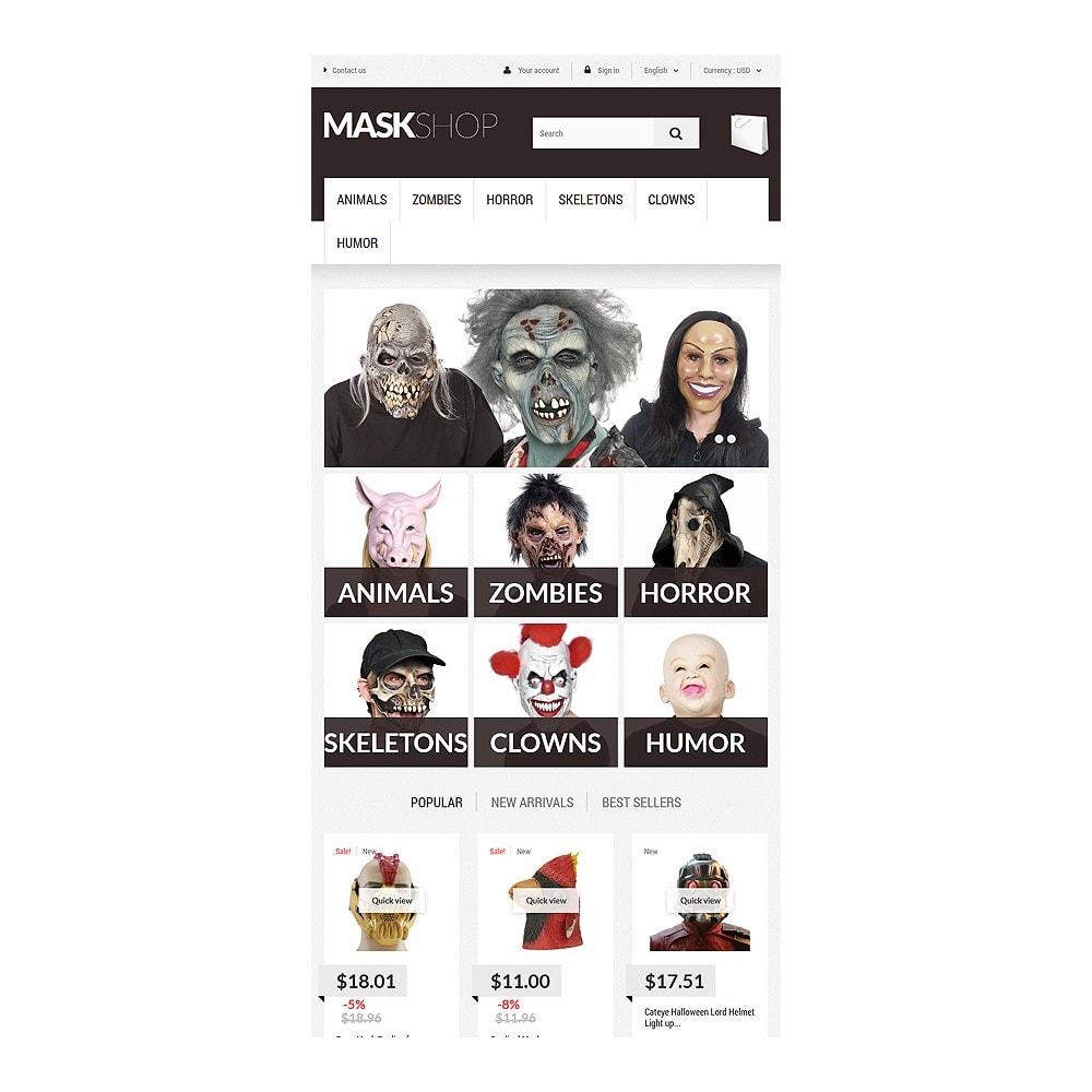 theme - Cadeaux, Fleurs et Fêtes - Masques de mascarade - 7