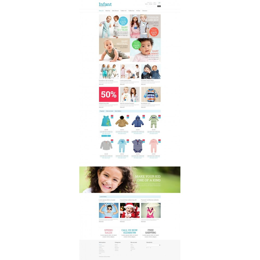 theme - Dom & Ogród - Infant Clothing Store - 4