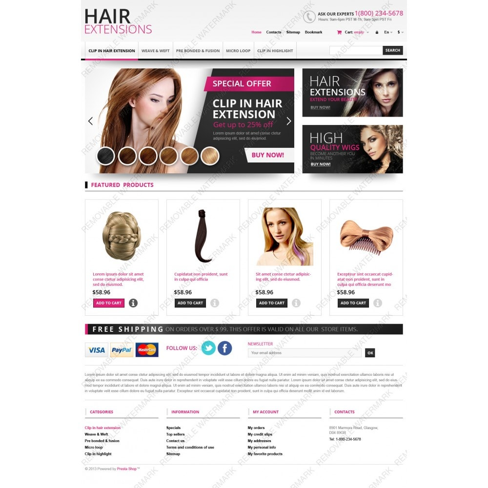 theme - Mode & Chaussures - Hair Extensions Store - 3