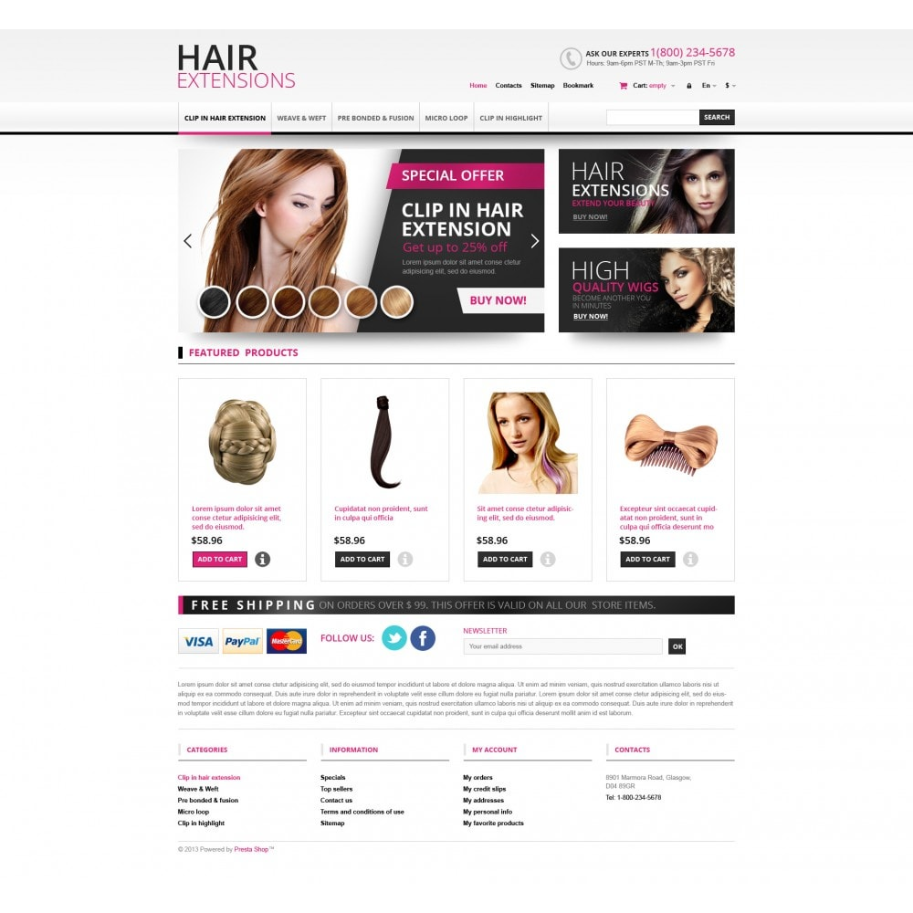 theme - Mode & Chaussures - Hair Extensions Store - 4