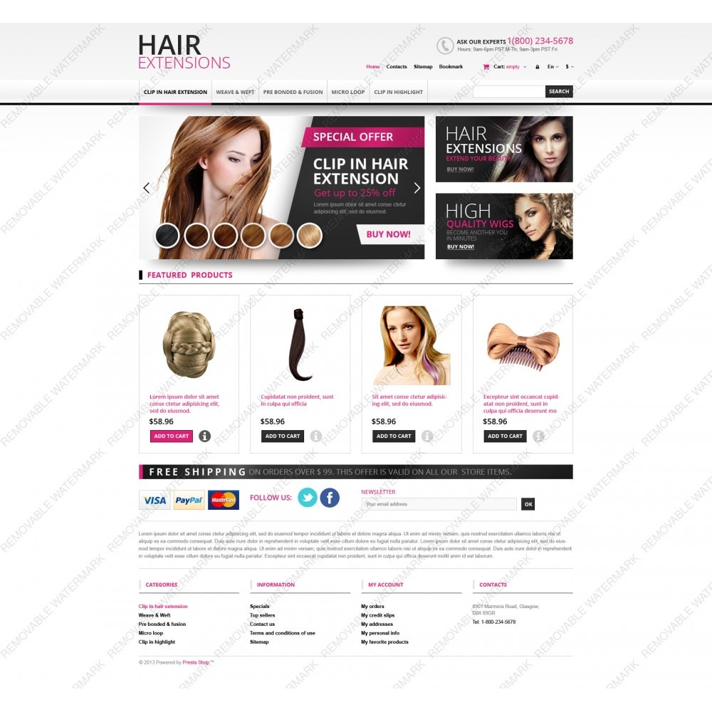 theme - Mode & Chaussures - Hair Extensions Store - 5