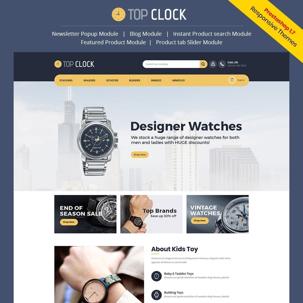 Top Clock - Watch Store