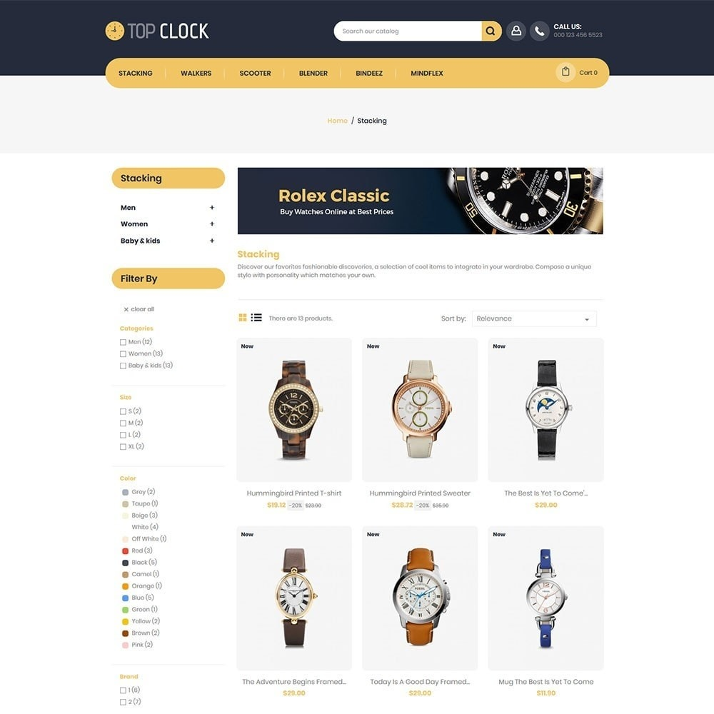 theme - Moda y Calzado - Top Clock - Watch Store - 3
