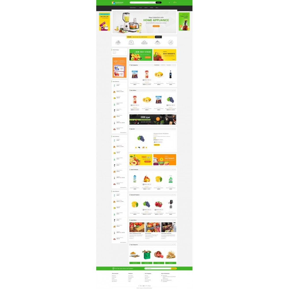 theme - Alimentation & Restauration - Big Basket Mega Grocery - 3