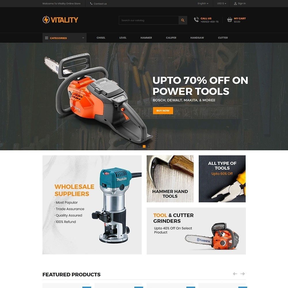 Vitality - Tools Online Store
