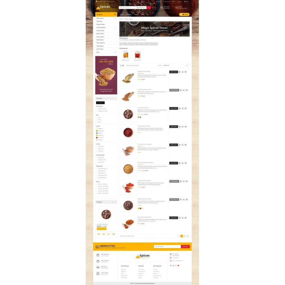 theme - Alimentation & Restauration - Spices Mega Store - 5