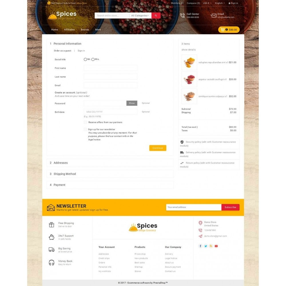theme - Alimentation & Restauration - Spices Mega Store - 8