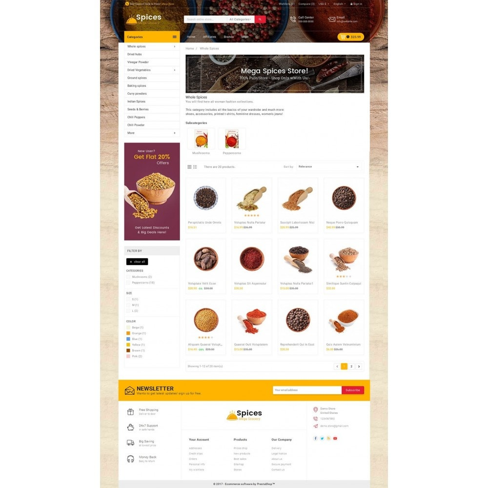 theme - Lebensmittel & Restaurants - Spices Mega Store - 4