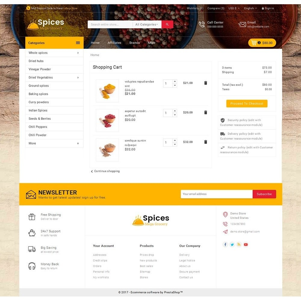 theme - Lebensmittel & Restaurants - Spices Mega Store - 8