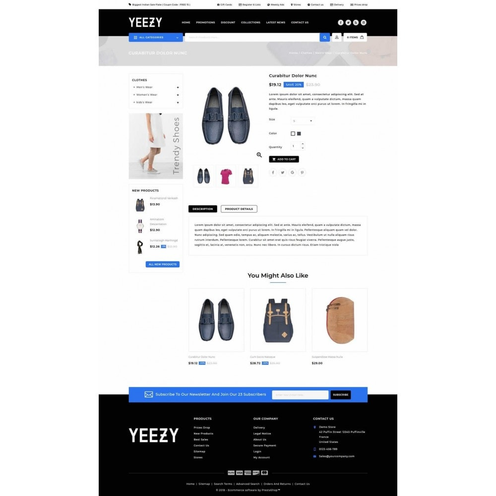 theme - Mode & Schuhe - Yeezy Fashion Accessories Store - 4