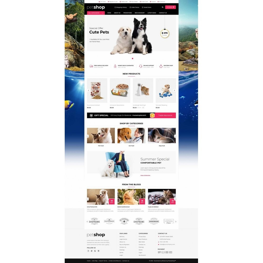 theme - Animais - Pet Online Shop - 2