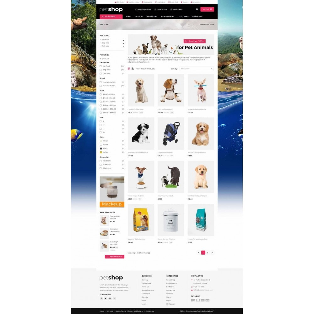 theme - Animais - Pet Online Shop - 3