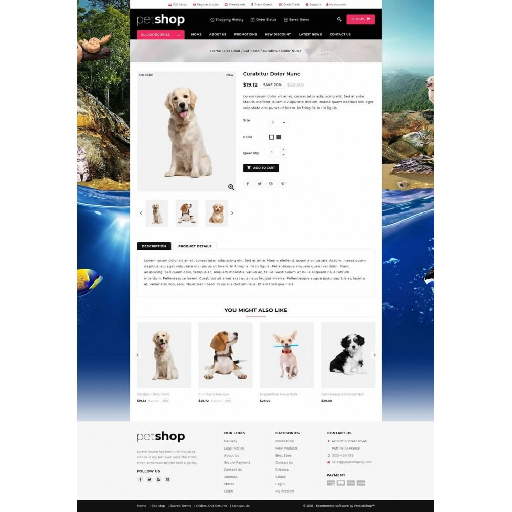 theme - Animais - Pet Online Shop - 4