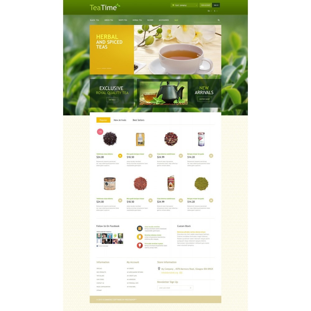 theme - Food & Restaurant - Tea Store - 2