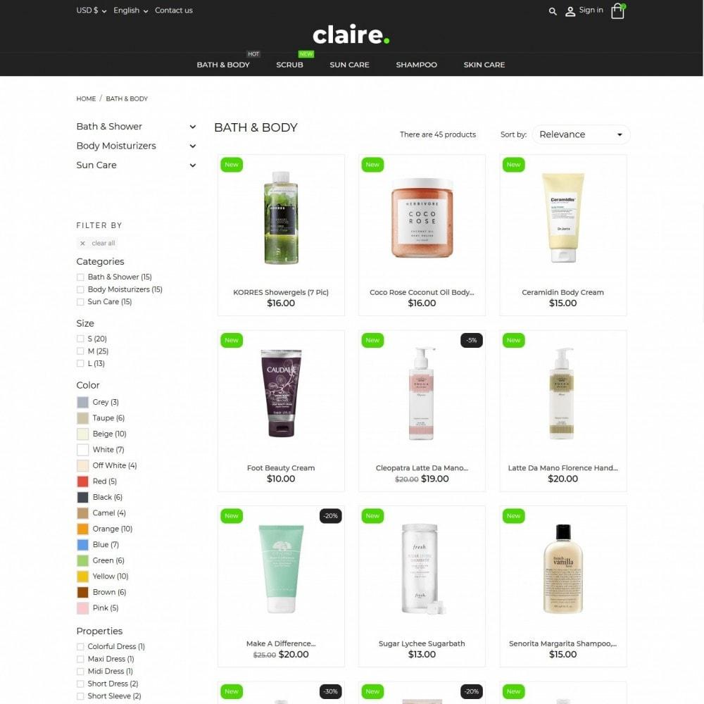 theme - Santé & Beauté - Claire Cosmetics - 5