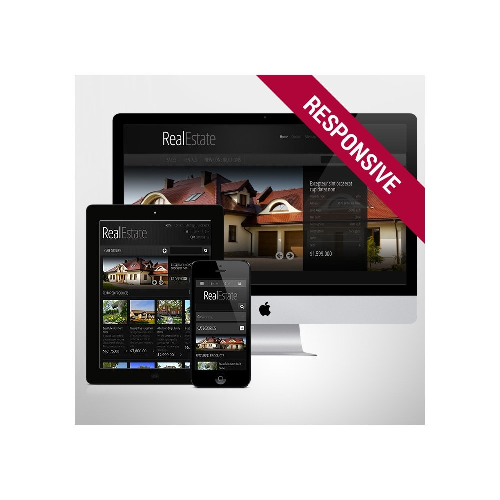 theme - PrestaShop Szablony - Responsive Real Estate Store - 1