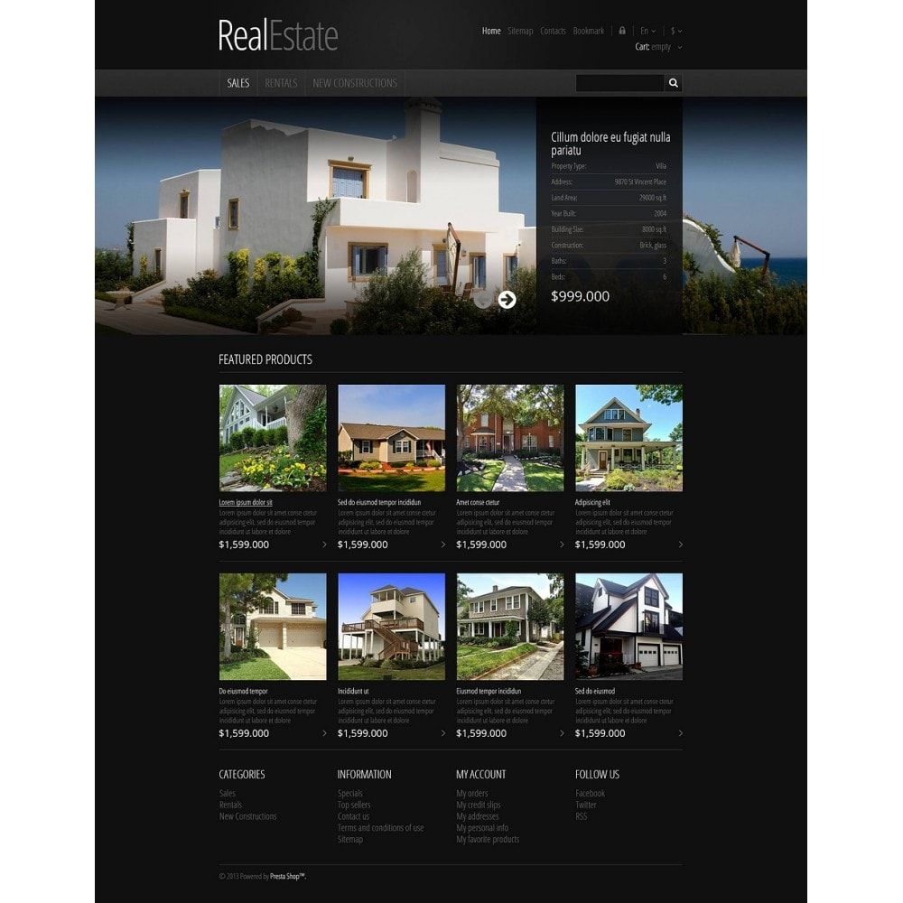 theme - PrestaShop Szablony - Responsive Real Estate Store - 2