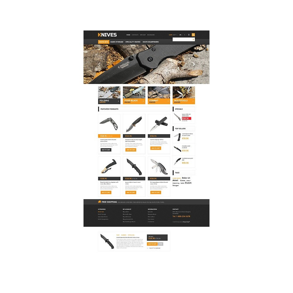 theme - Template PrestaShop - Responsive Knives Store - 10