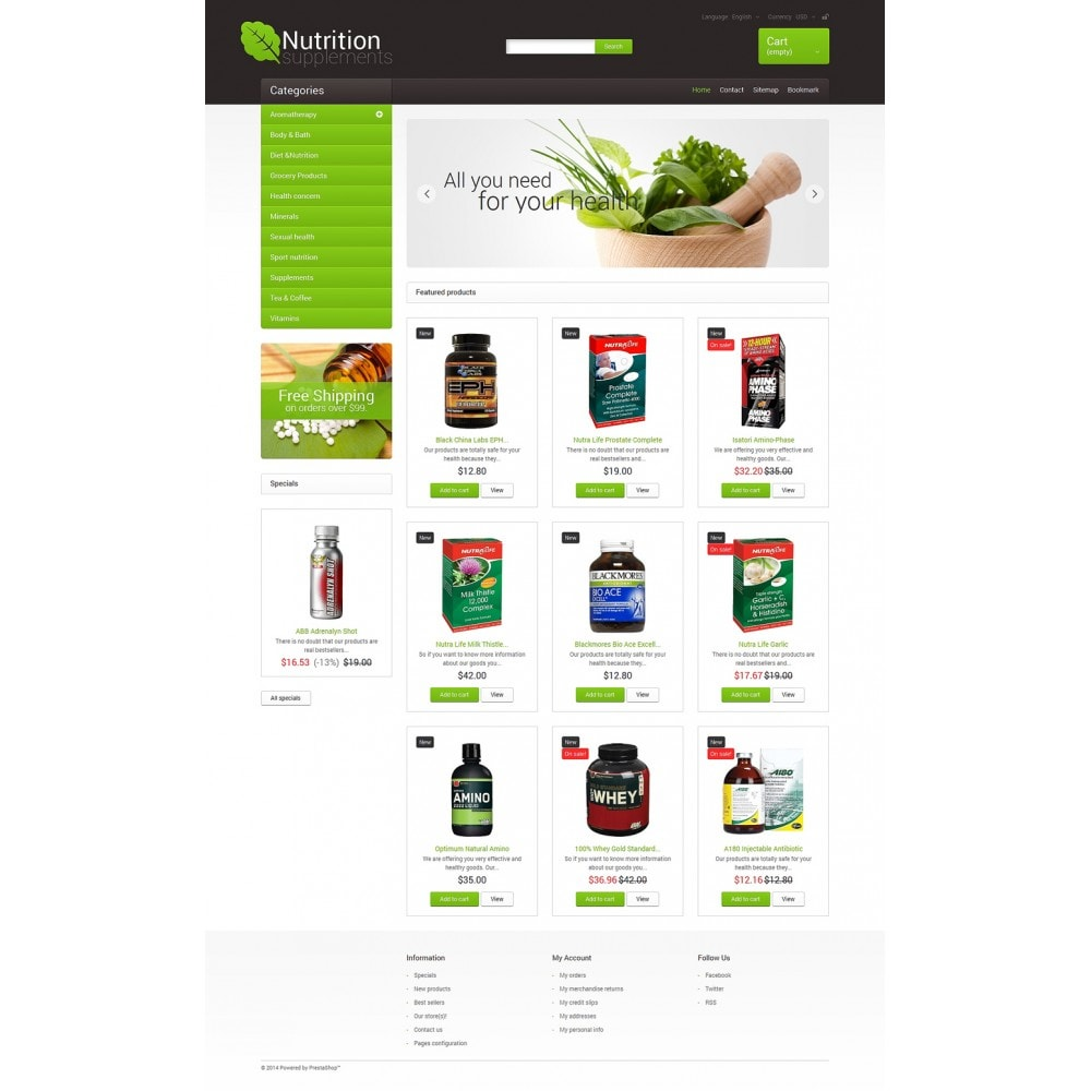theme - Health & Beauty - Nutrition Supplements - 2