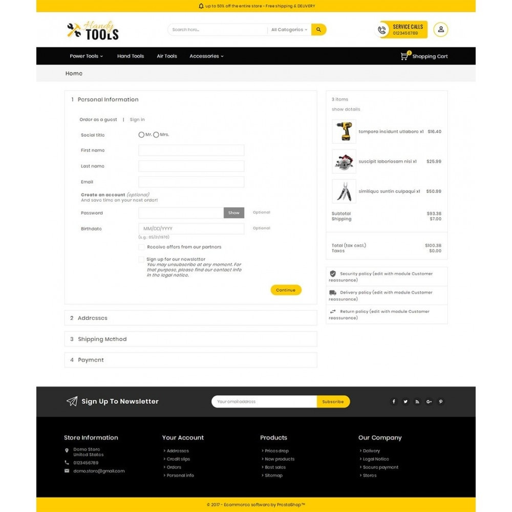 theme - Electronique & High Tech - Handy Tools Store - 8