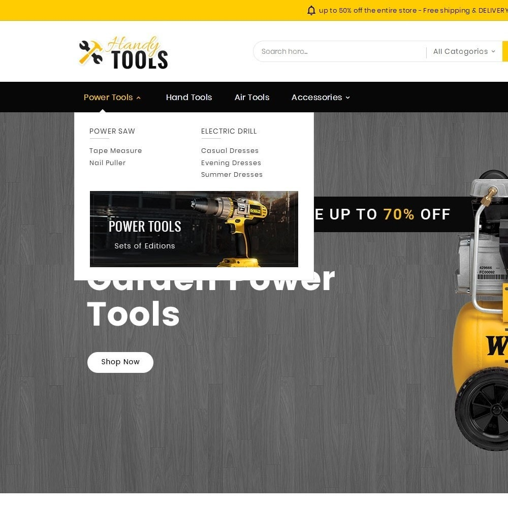 theme - Electronique & High Tech - Handy Tools Store - 10
