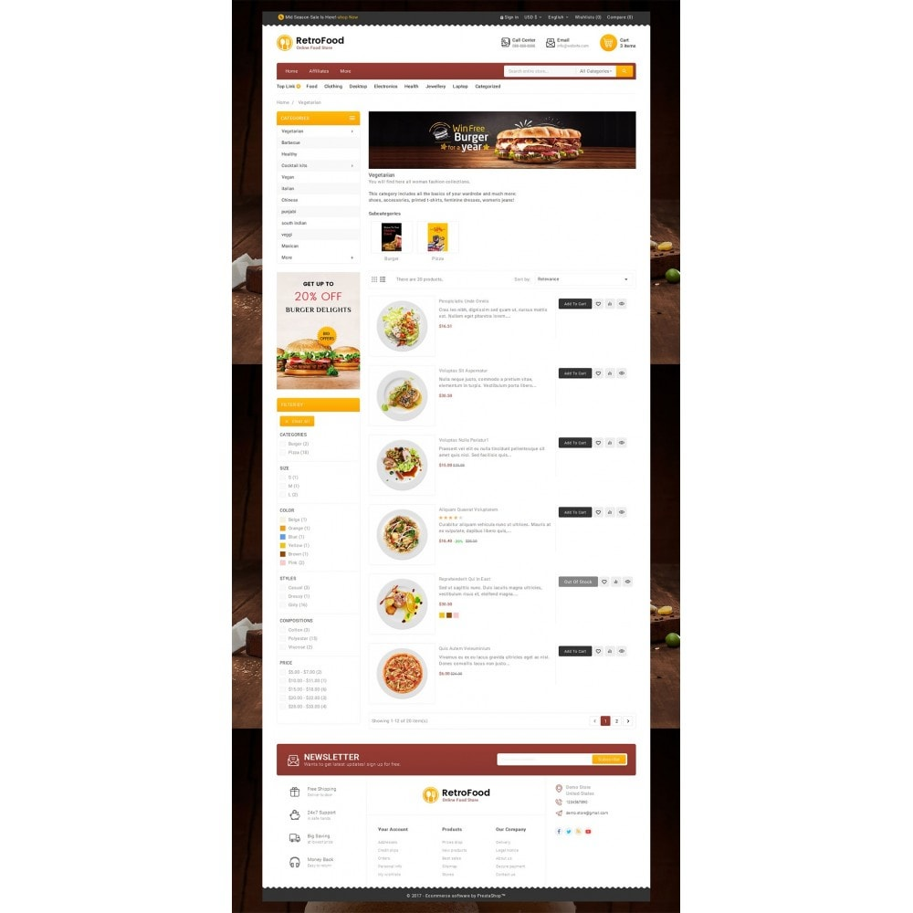 theme - Alimentation & Restauration - Fast Foods Mega Store - 5