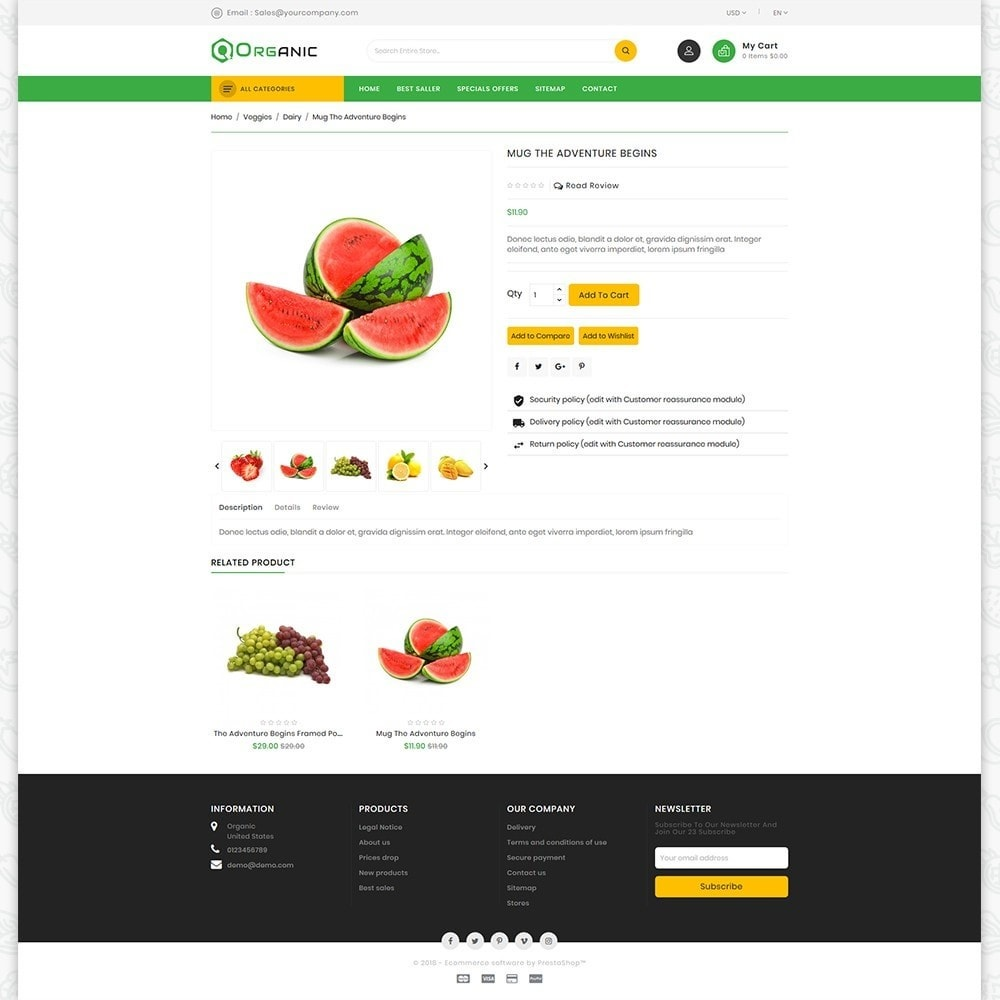 theme - Gastronomía y Restauración - Organic Food - The Food - 5