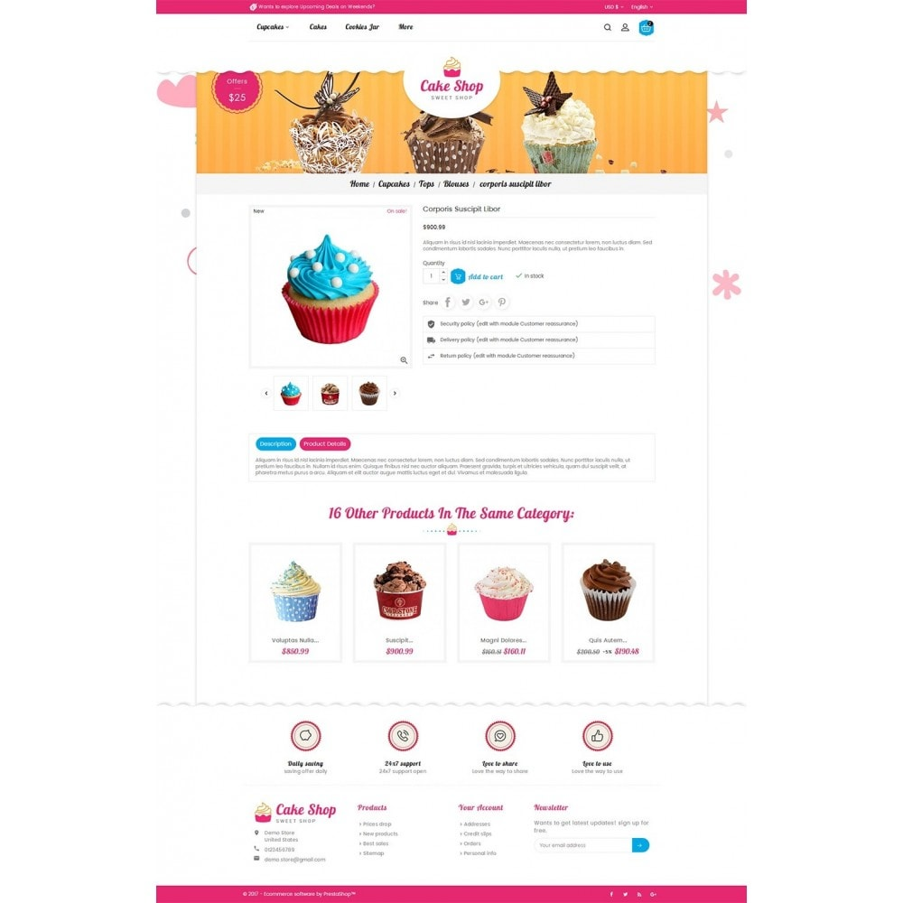 theme - Alimentation & Restauration - Cake Shop - 6