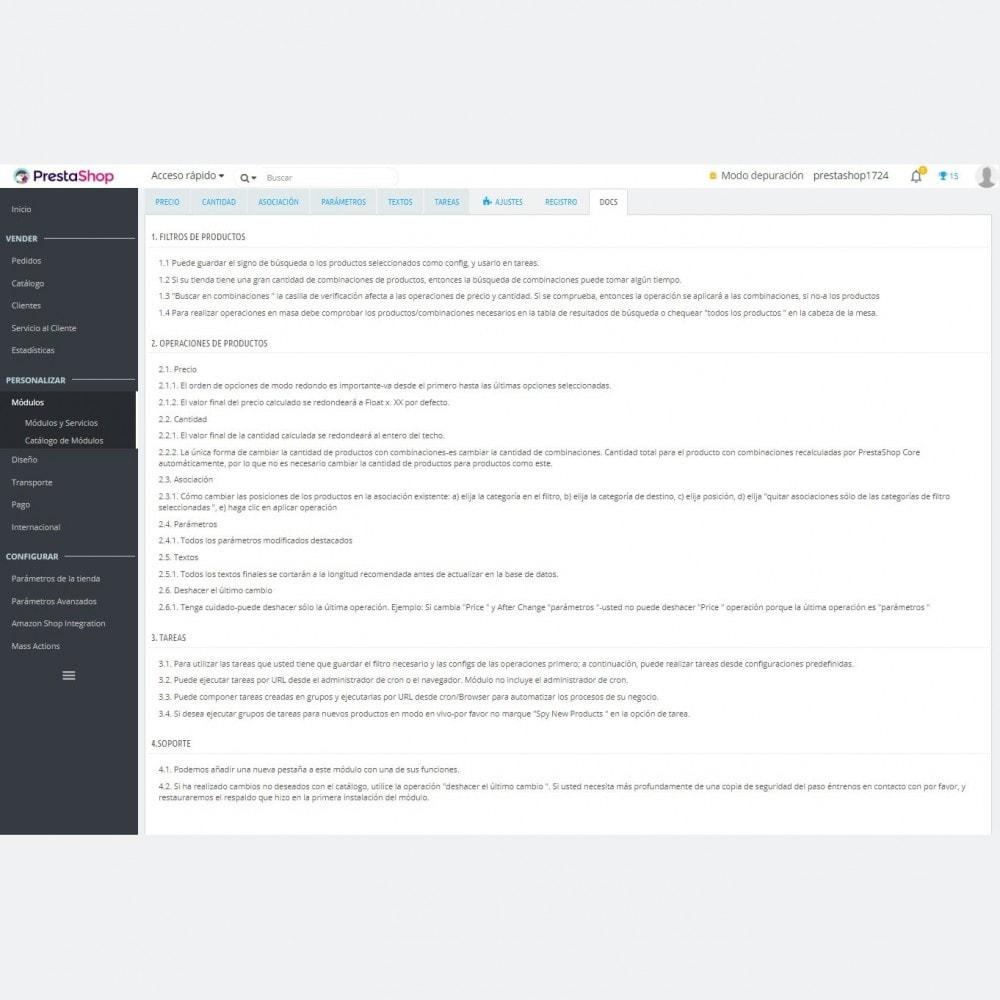 module - Edición Rápida y Masiva - Acciones Agrupadas / Masa Avanzadas Productos +Filtrar - 8