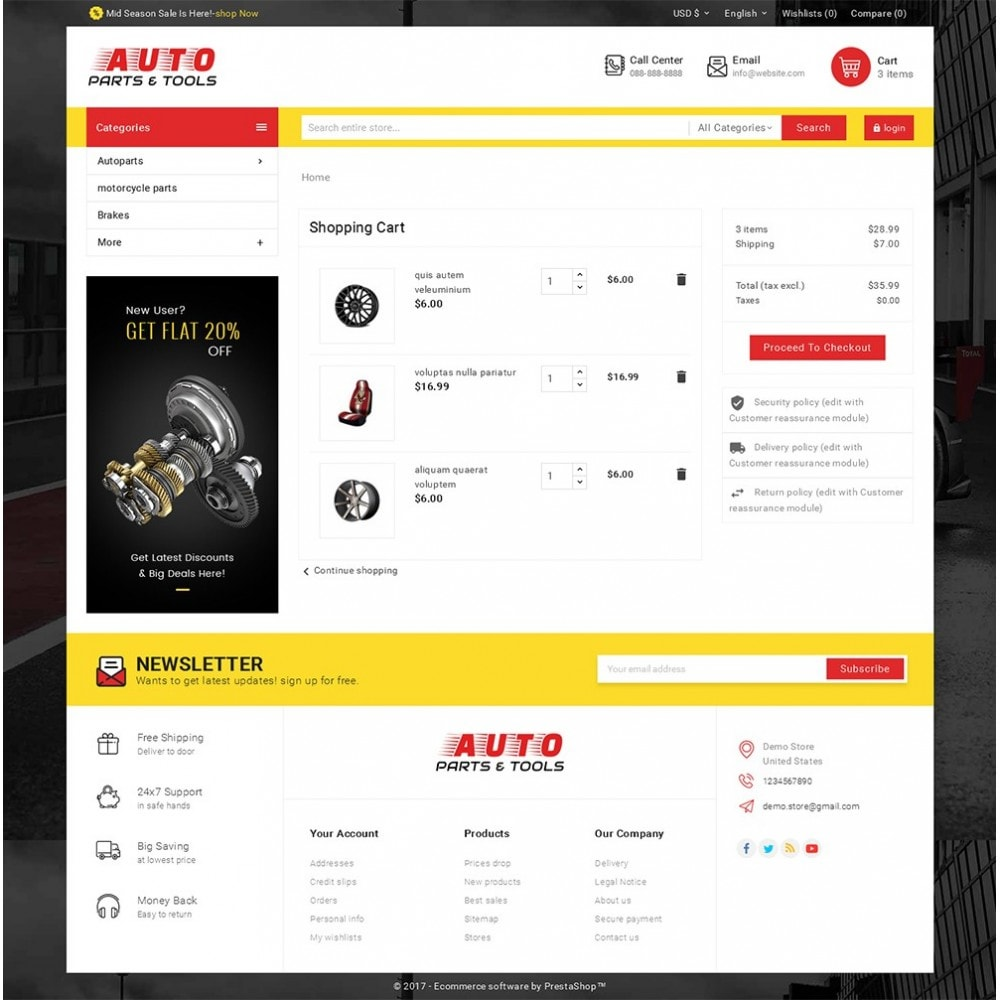 theme - Coches y Motos - Auto Parts Mega Store - 7