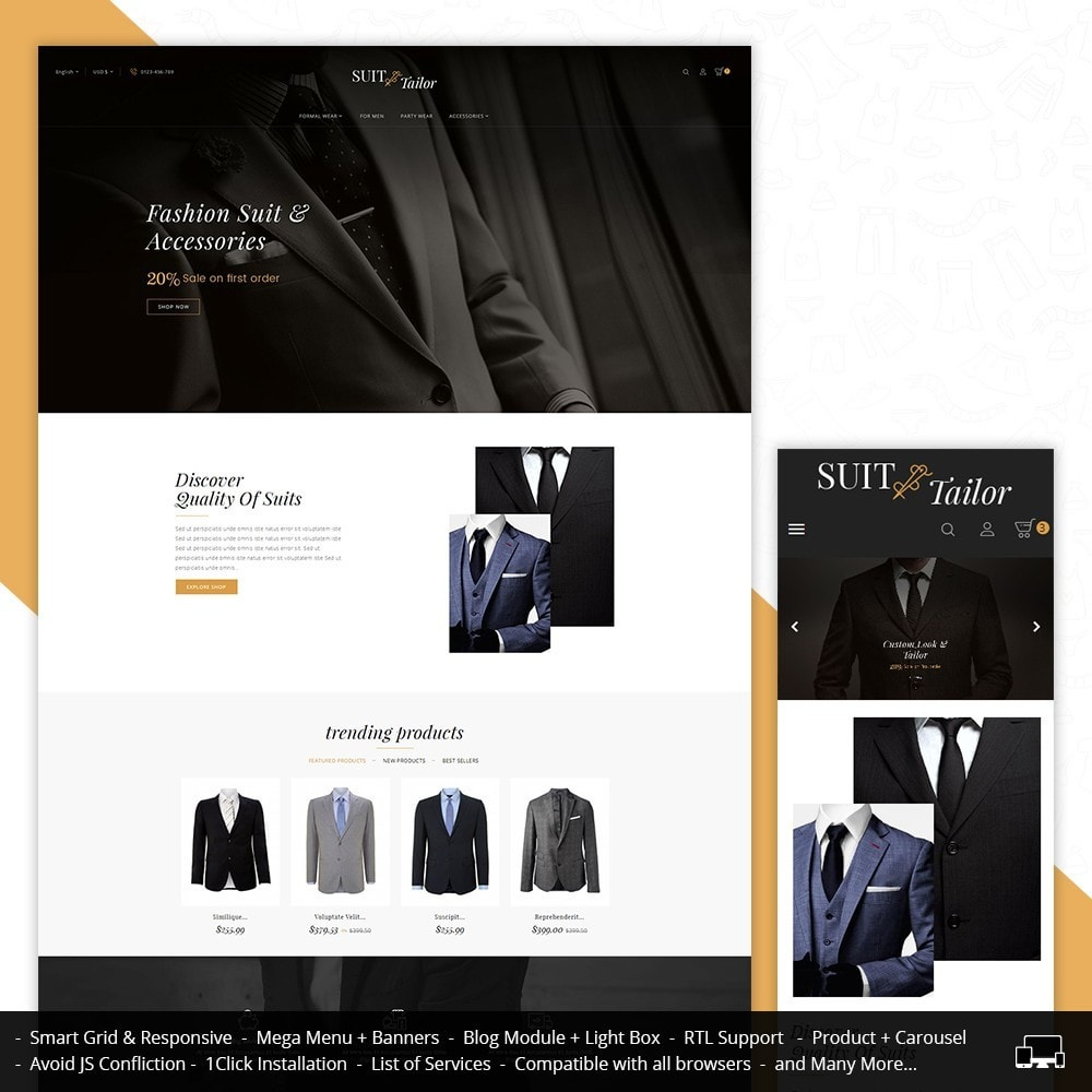 theme - Mode & Chaussures - Suit/Tailor Store - 2