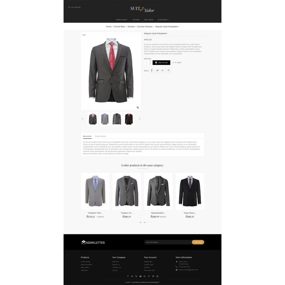 theme - Mode & Chaussures - Suit/Tailor Store - 6