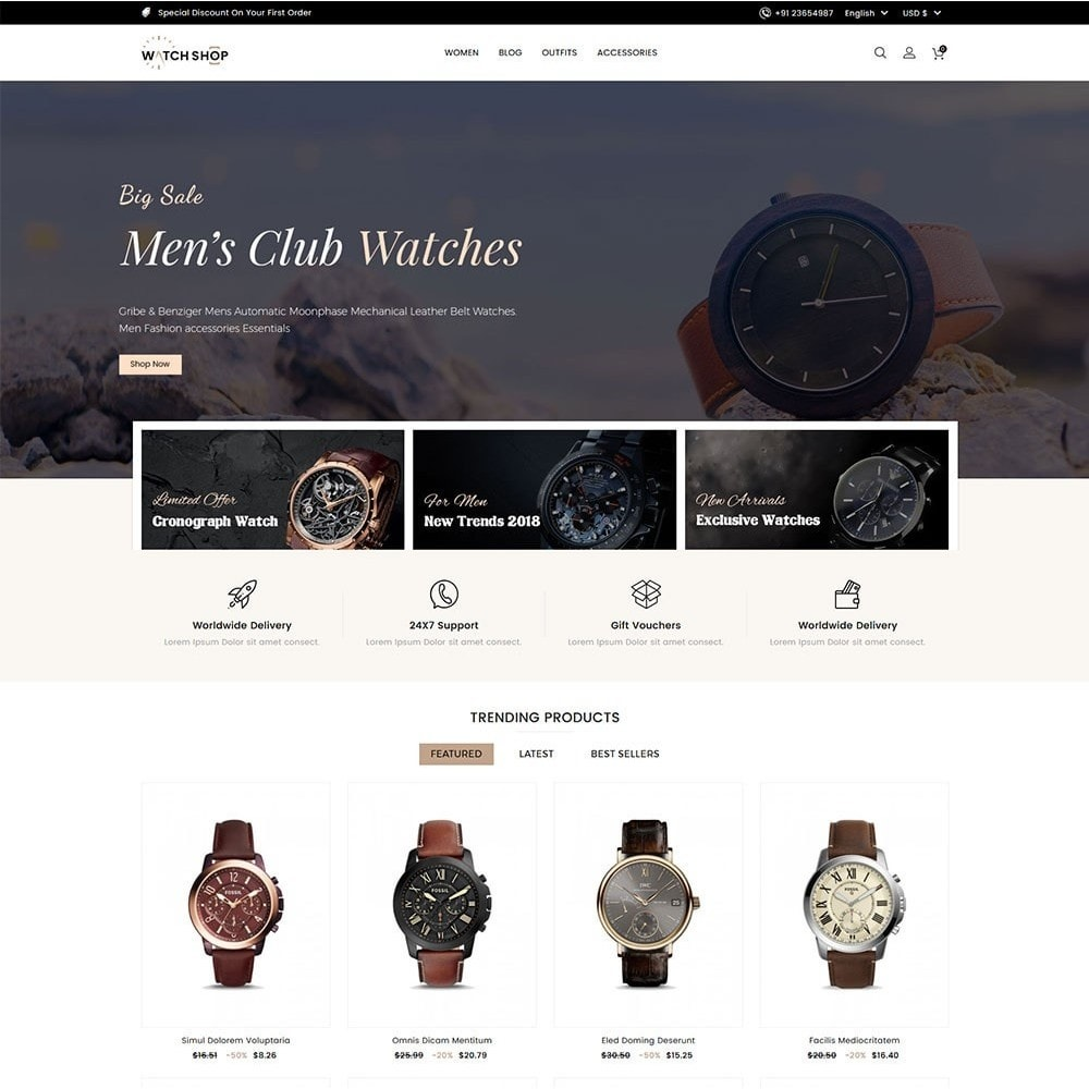 theme - Jewelry & Accessories - Watch Shop - 2
