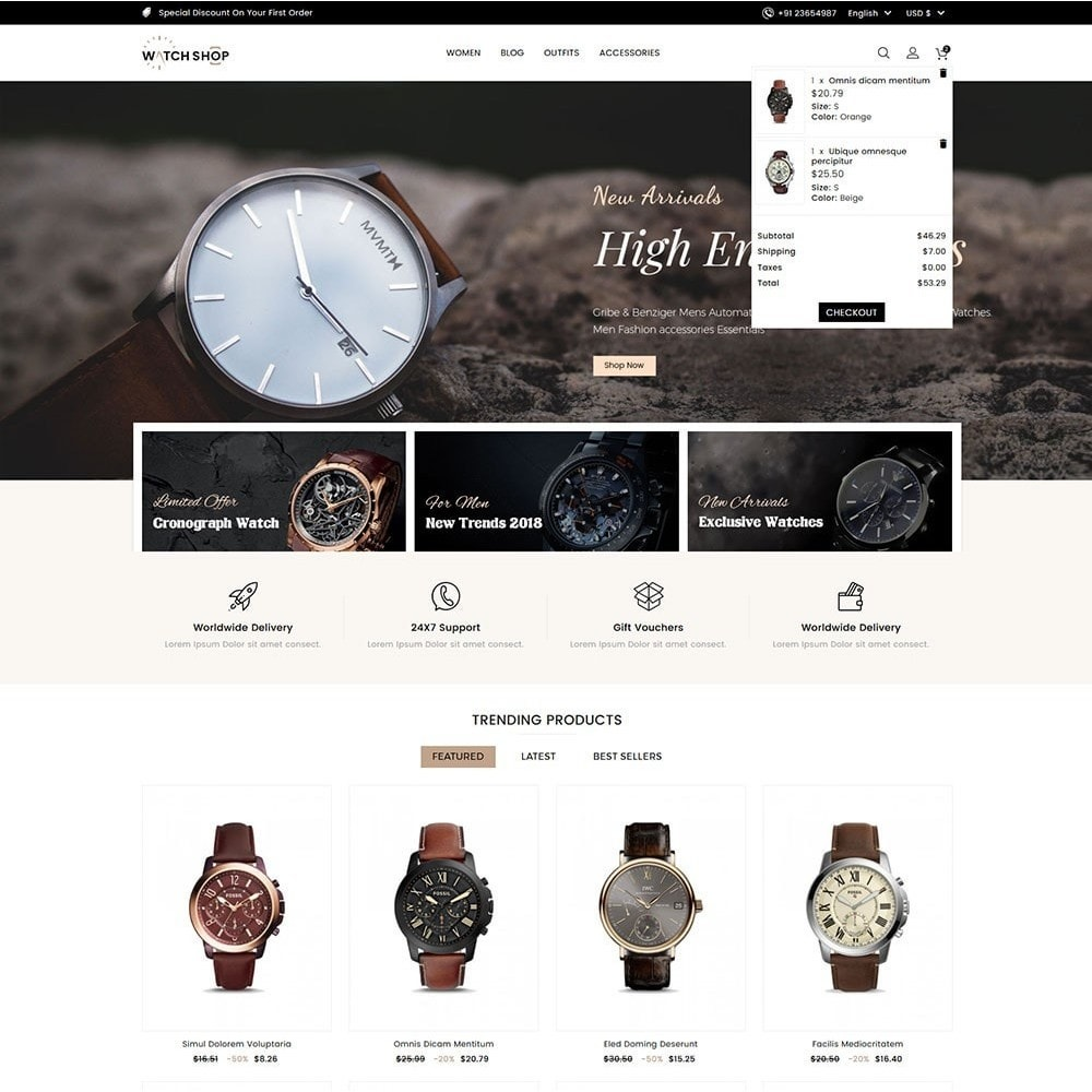 theme - Jewelry & Accessories - Watch Shop - 3