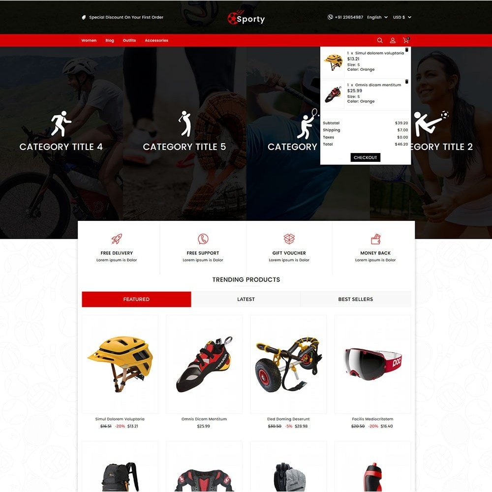 theme - Sport, Loisirs & Voyage - Sporty Game and Sports Store - 2