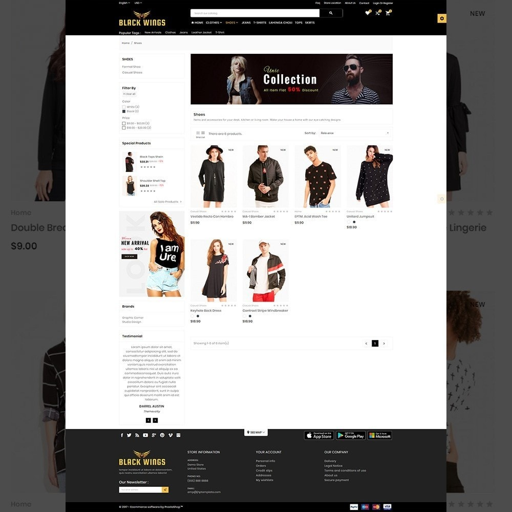 Black Wings – Fashion Mega Purpose  Store