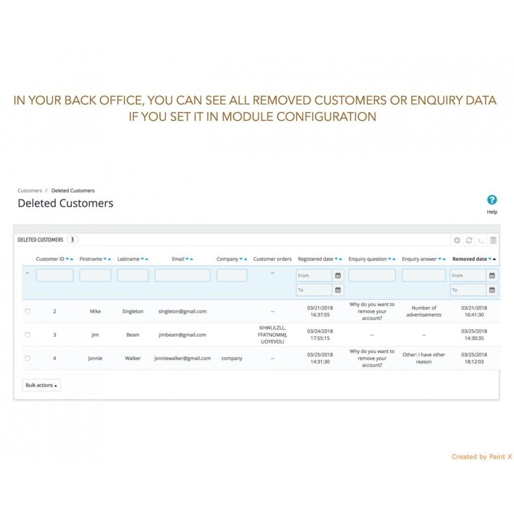 module - Legale (Legge Europea) - GDPR Cancellazione account cliente con opzioni avanzate - 5