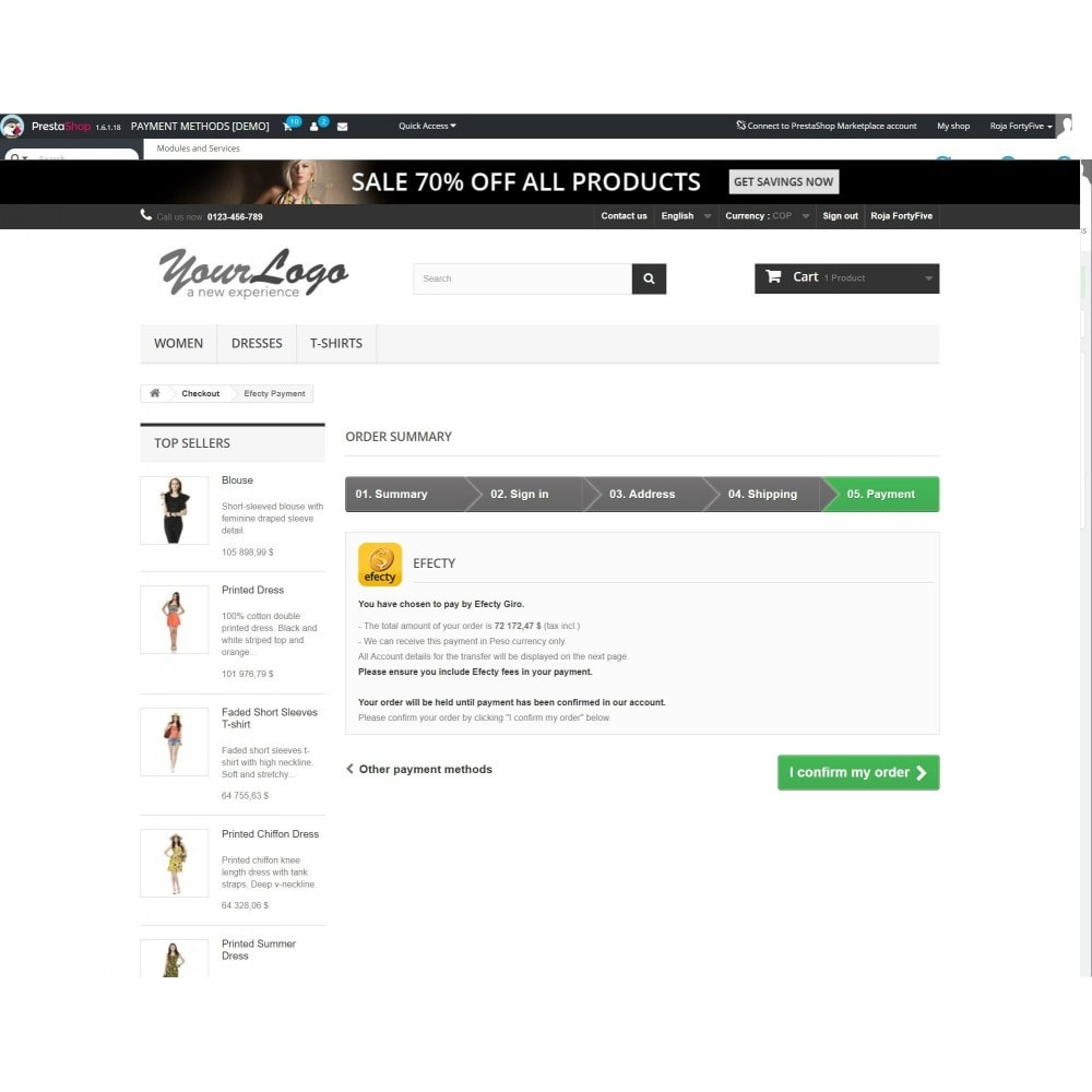 module - Payment by Invoice - Efecty Payment - 2