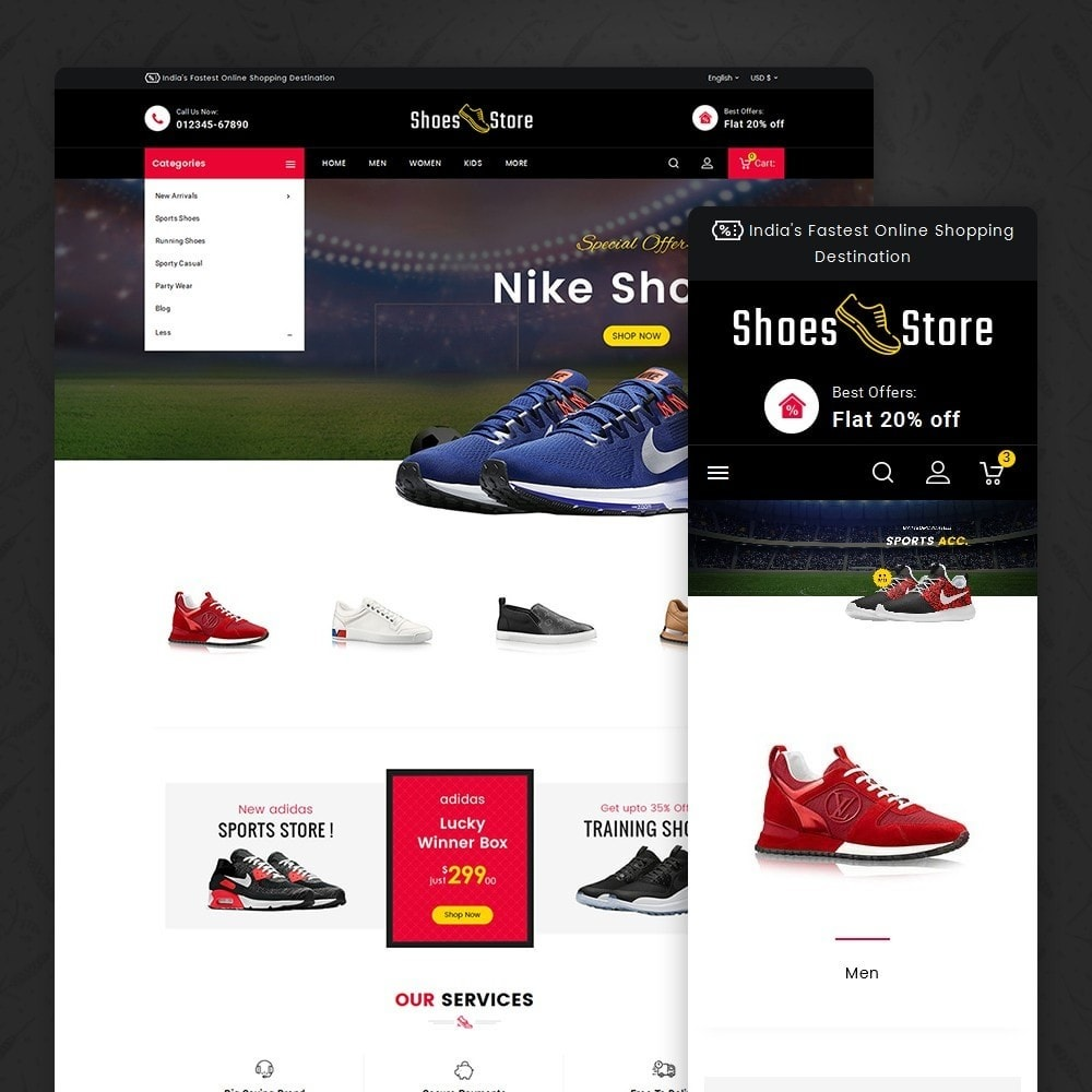 theme - Sport, Loisirs & Voyage - Sports Shoes Store - 2
