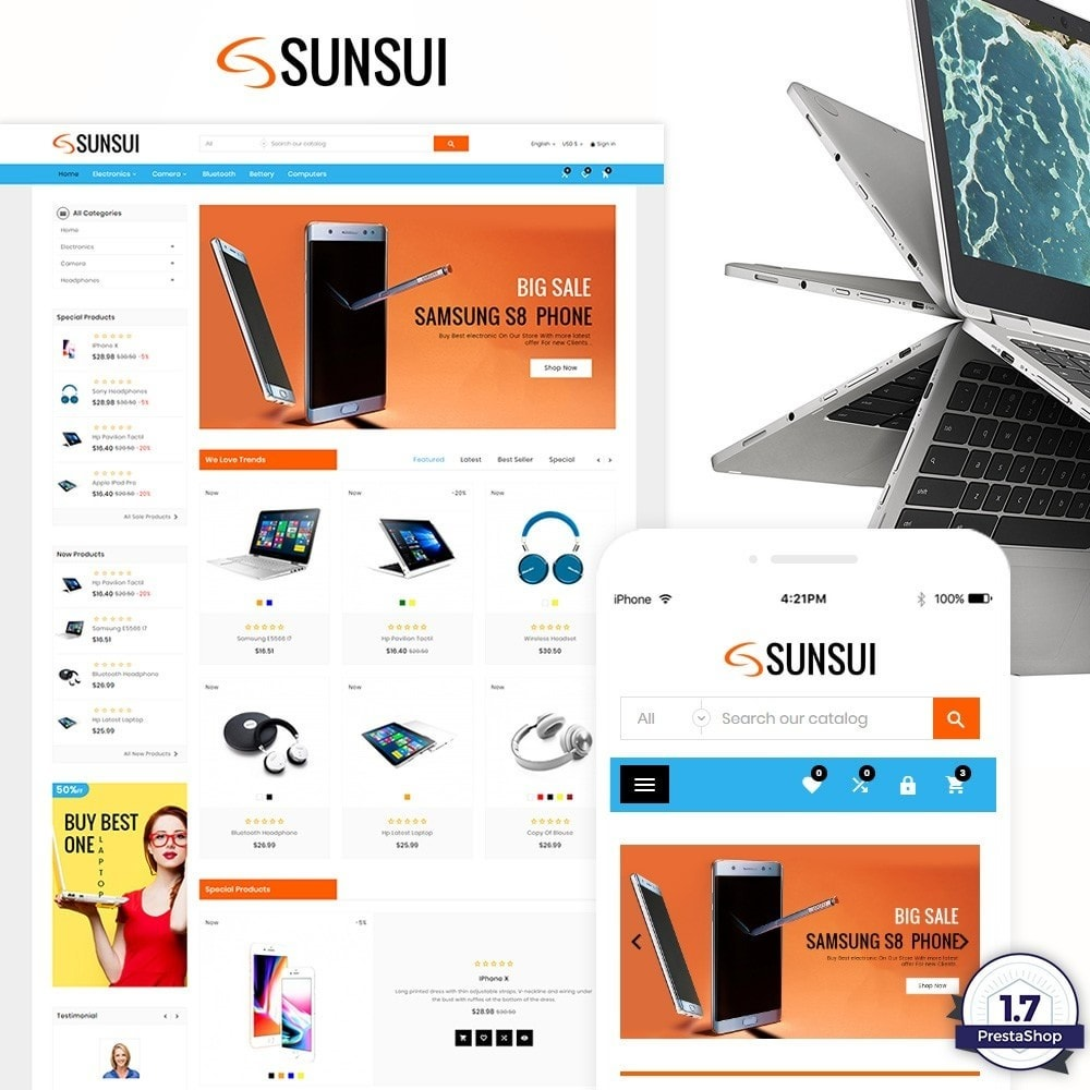 theme - Eletrônicos & High Tech - Sunsui – Electronic and Big Super Store - 1