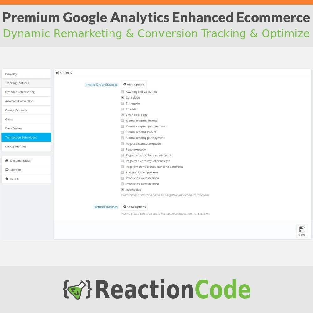 module - Analyses & Statistiques - Premium Google Analytics Enhanced Ecommerce - 9