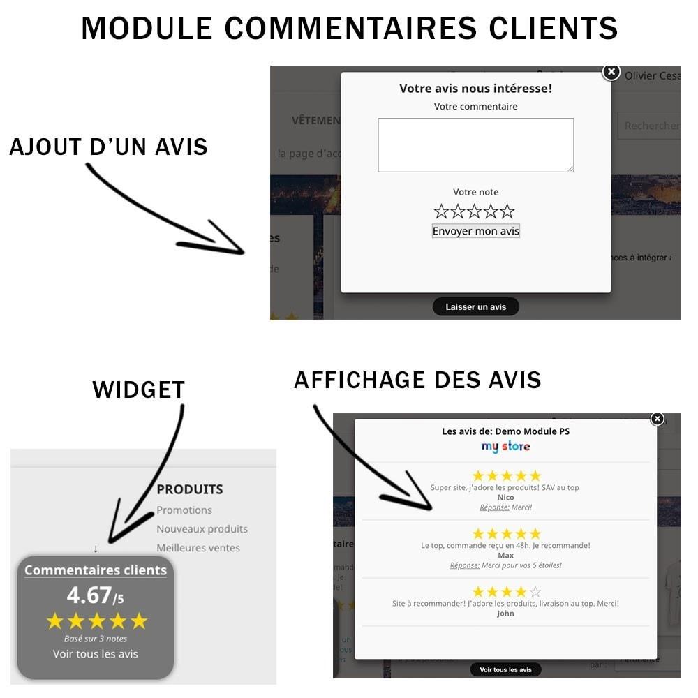 module - Avis clients - Commentaires clients + Note + Avis Rich Snippets - 3