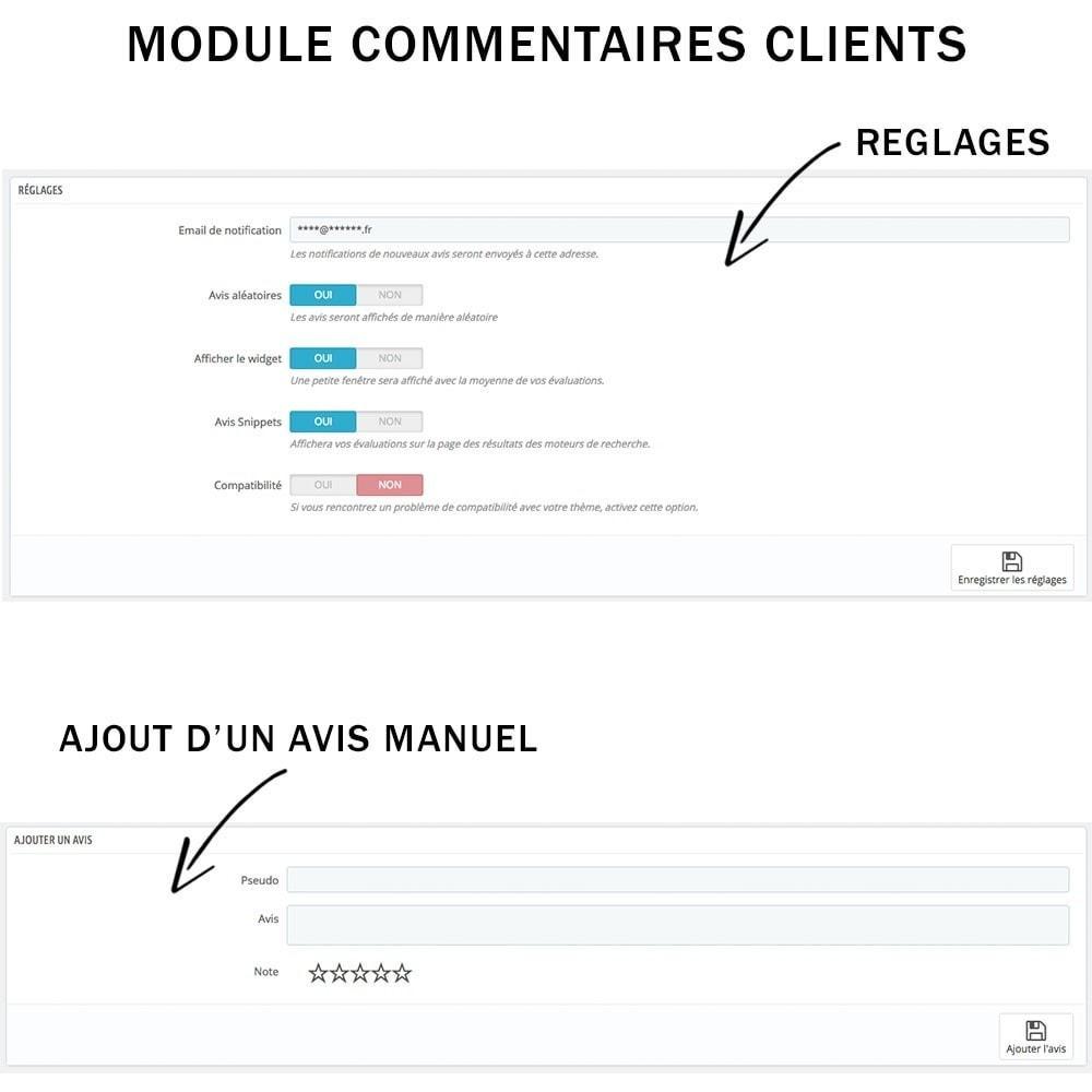 module - Avis clients - Commentaires clients + Note + Avis Rich Snippets - 4
