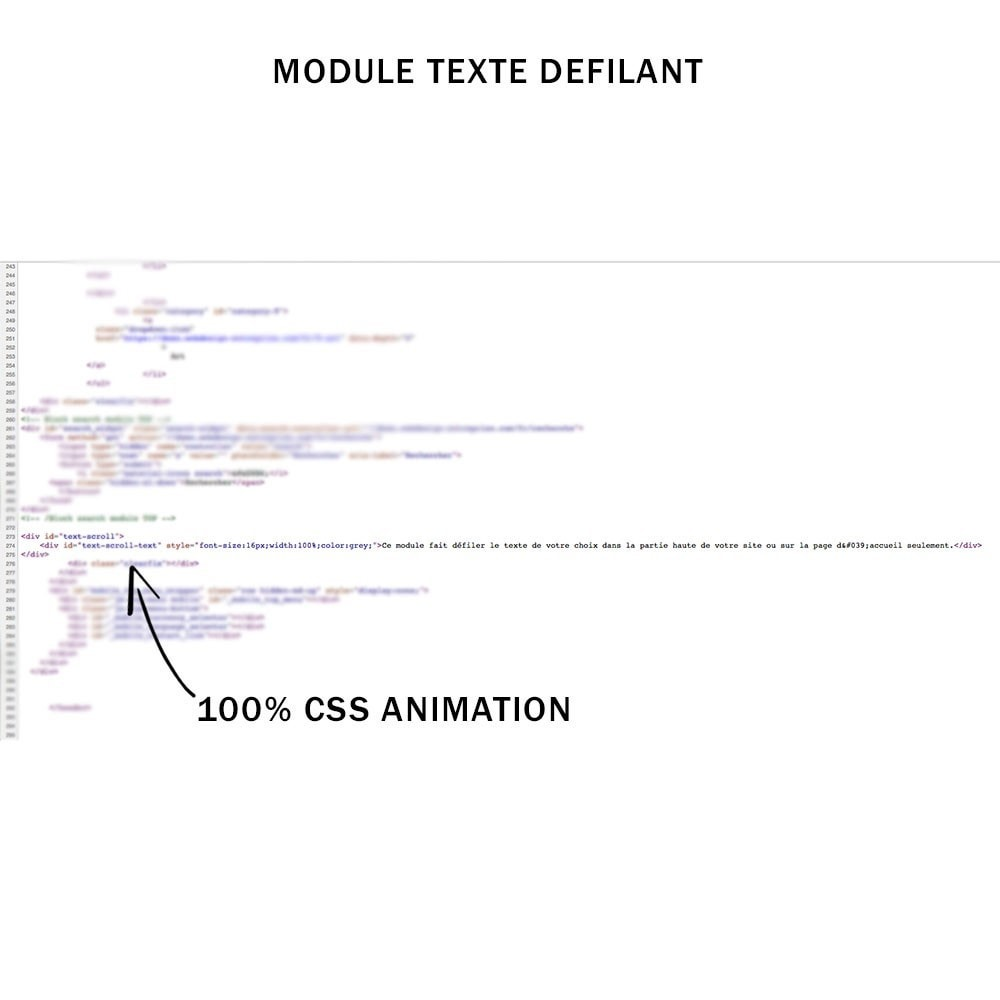 module - Navigatie middelen - Any scroll text css animation customizable - 3