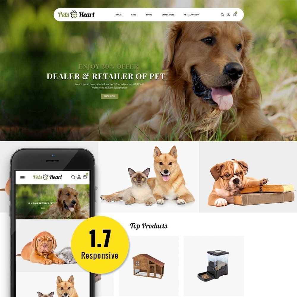 theme - Animais - Pets Heart Store - 1